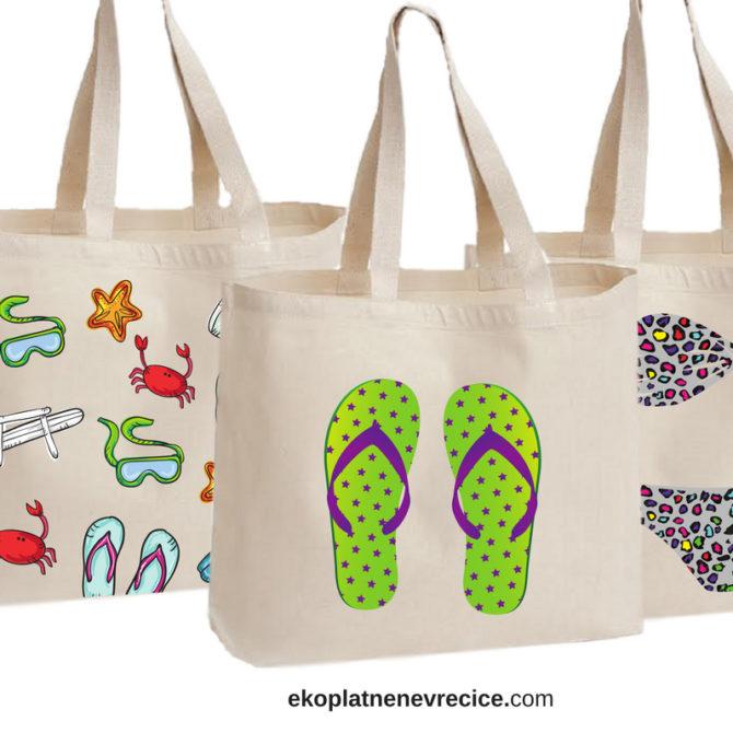 torba za plazu - motiv ljeta